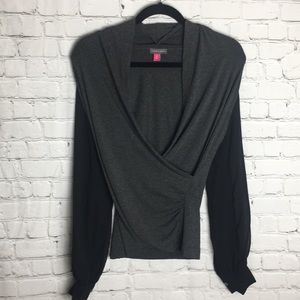 Vince Camuto Blouse- Size XS- Grey & Black